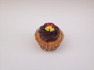 Cupcake de cenoura e cobertura dechocolate